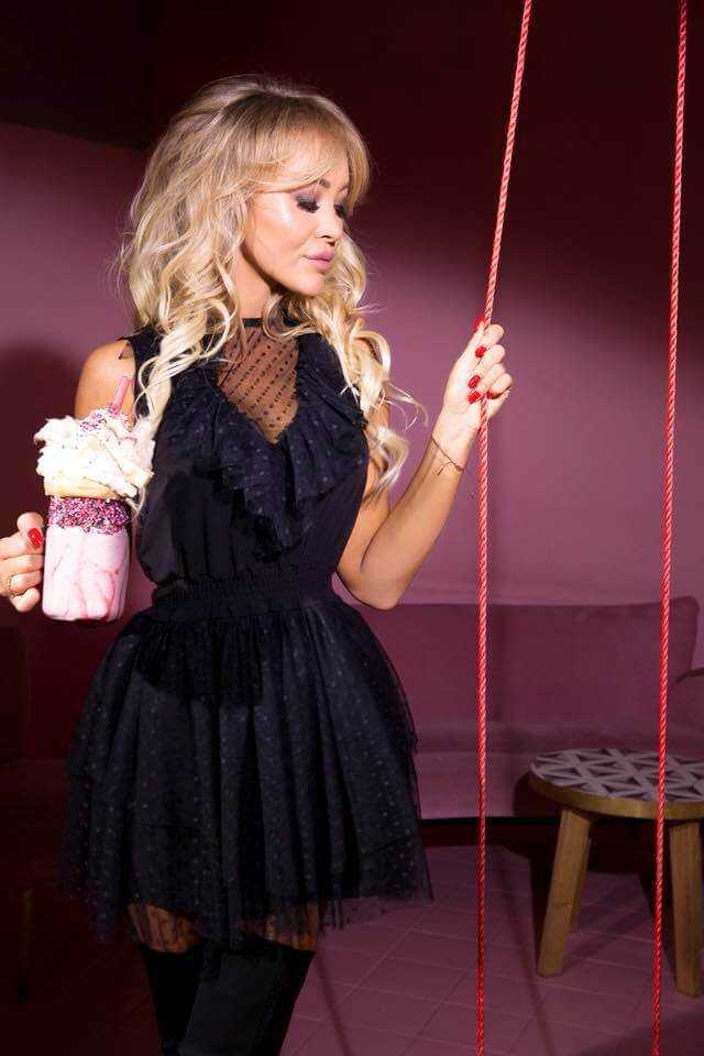 1befbbe425 Lia capricci sukienka czarna rozkloszowana tiul - Anmaris